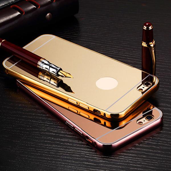 cfb9fe5856a Carcasas De Moviles Funda De Espejo Para El IPhone 7 7 Más 6 6 Más ...