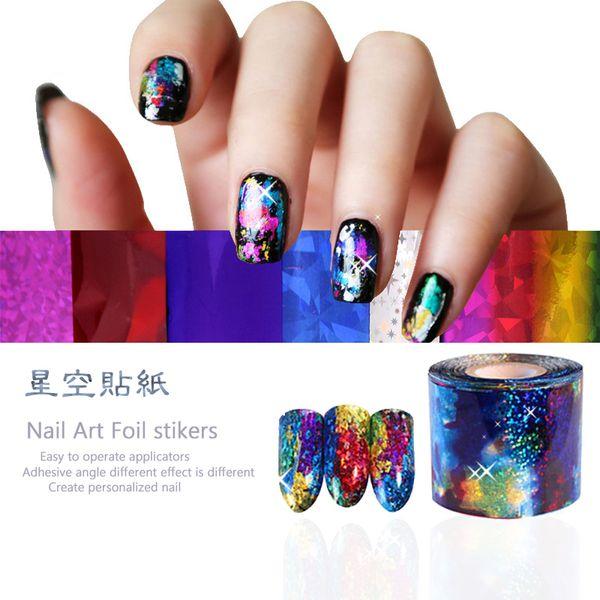 Byfunme Nail Foils Transfer Stickersnail Challenge Beauty Fashion ...