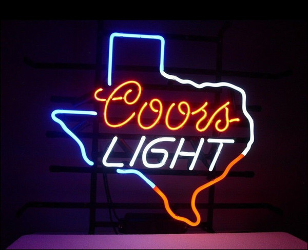 Fashion New Handcraft Coors Light Texas Lone Star Real Glass Tubes Beer Bar Pub Display neon sign 19x15!!!Best Offer!