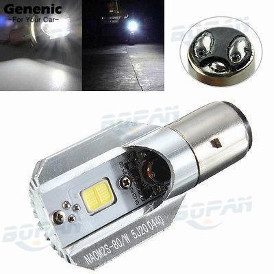 1Pc Nuovo DC 6-80V 12W H / L LED Faro per moto COB BA20D Bulbo Faro per moto DOX di auto e moto Lampade