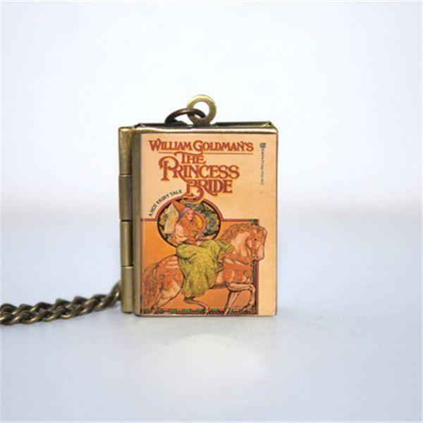 12pcs The Princess Bride Book Locket Necklace, bronze tone VISION 3z1e