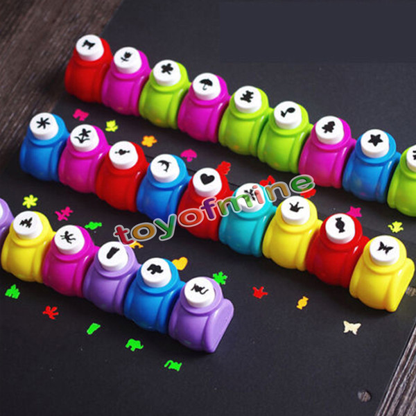 Wholesale- Mini Scrapbook Punches Handmade Cutter Card Craft Calico Printing Flower Paper Craft Punch Hole Puncher Shape DIY Tool