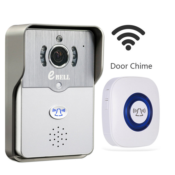 EBELL Home Security HD WiFi Video Doorbell Camera W/ Indoor Chime, Support Mobile  Phone