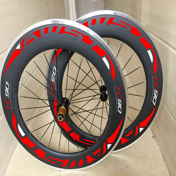AWST hot sale 88mm alloy surface road bike carbon wheels 3k matt clincher bicycle wheel set basalt surface carbon wheels free shipping