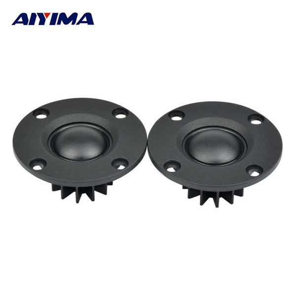 Wholesale- AIYIMA 2pcs 6ohm 30W 2inch ABS Frosted Panel Soft Dome Fiber Membrane Toothed Aluminum Radiator Hifi Neodymium Tweeter Speaker