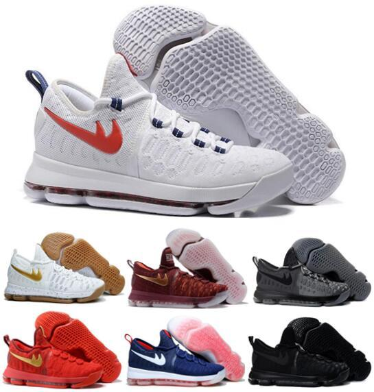 new concept 50c73 635bd Men Kd 9 Basketball Shoes Sneakers Runing Kds Viiii Lowe Elites Blue Durant  Quality Kd9 Wholesale Sports Shoes Tennis Shoes Shoes Sale From ...