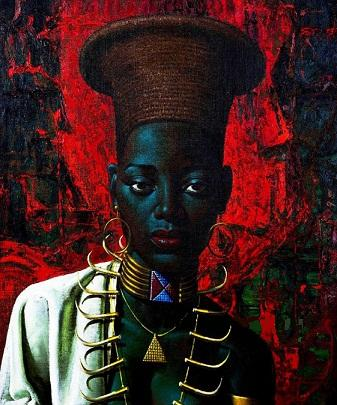 Framed Vladimir Tretchikoff 'Zulu maiden' 1958,genuine Pure Handpainted Famous Portraits Art oil Painting On Thick Canvas Multi sizes P065