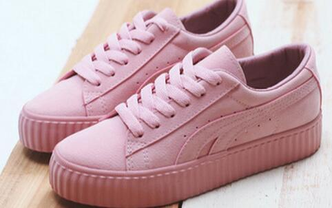 new product 6dcf1 1158f 2017 New Velvet Rihanna X Suede Rihanna Creeper White Pink Black Women Men  Fashion Cheap Casual Shoes Sneakers Shoe Boots Fashion Shoes From ...