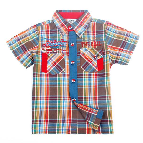 Ragazzi t-shirt 2017 nuovi bambini abbigliamento nova bambini vestiti con tasche moda plaid estivo bobo choses ragazzi magliette