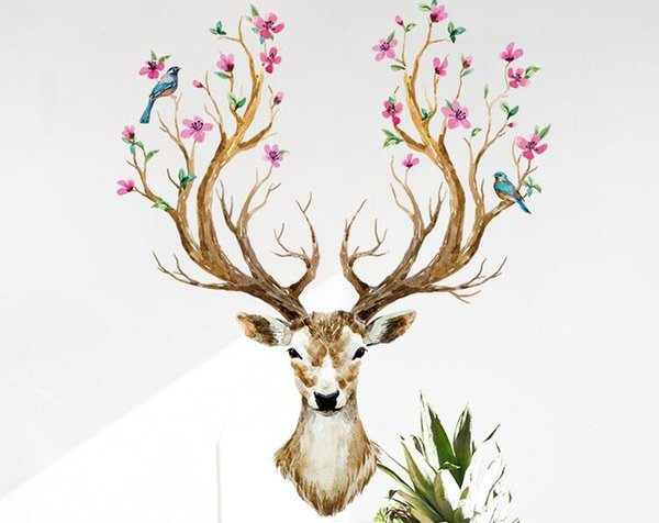 DIY Fairy Deer Wall Stickers Removable for Room Decorative Wall Decals Home Decoration Movie Wallpaper Wall Art Windows