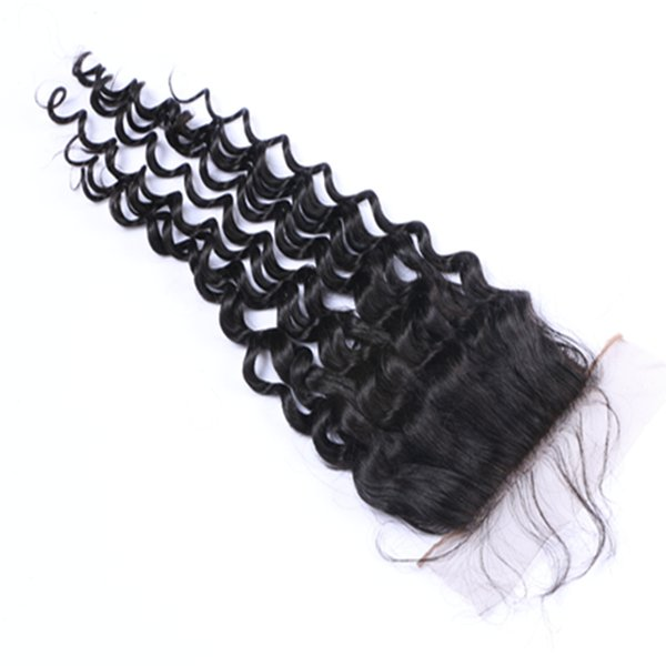 Hot Sell Full Lace Loose Curly Human Virgin Hair Extensions Natural Color Brazilian Indian Peruvian Malaysian 4*4 Closure Can Be Dyed