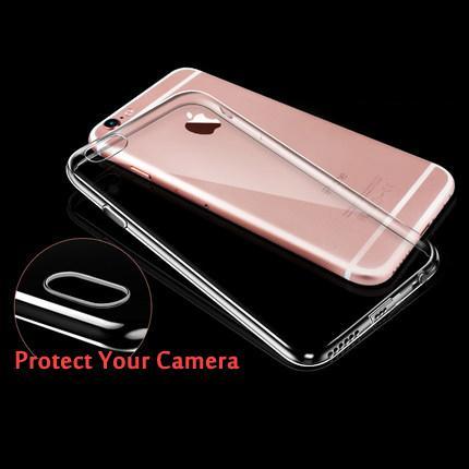 Nouveau Pour iphone Ultra Mince Doux TPU Gel D'origine Coque Transparent Pour iPhone 5 6plus 7 8 plus X Cristal Clair Silicium Couverture Arrière Téléphone Sacs