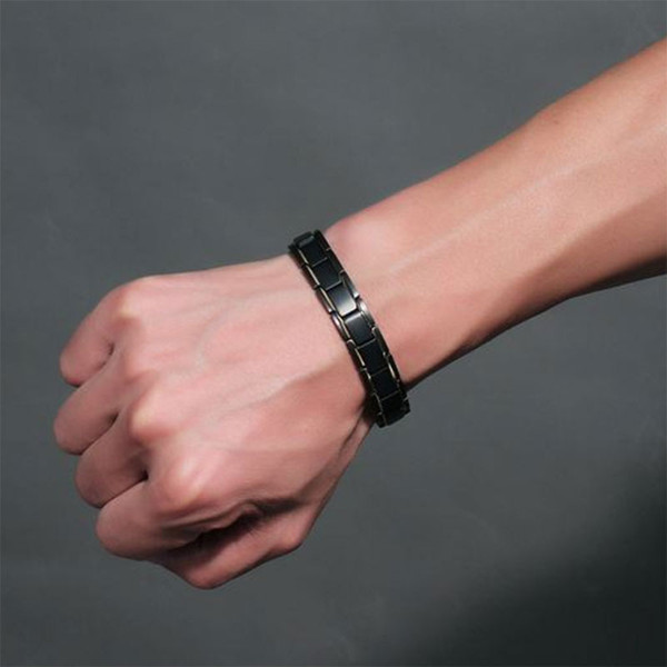 Men Jewelry Healing magnetic Bangle Balance Health Bracelet Silver Titanium Bracelets Special Design for Male and Female