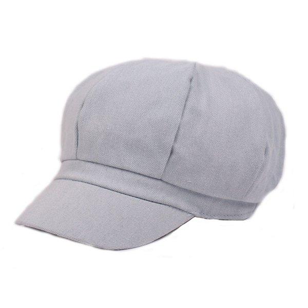 Compre Al Por Mayor Moda Mujeres Unisex Beret Hats Octagonal Denim ...