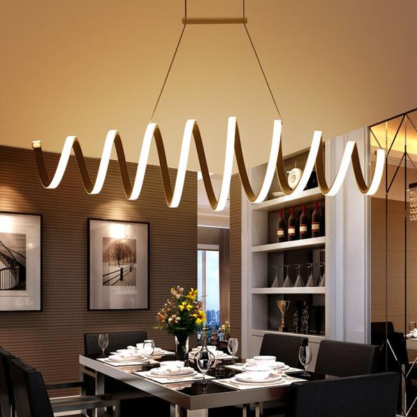 Acheter Minimalisme DIY Suspendus Moderne LED Pendentif Lumières Pour Salle  À Manger Bar Suspension Luminaire Suspendu Pendentif Lampe Luminaire De ...