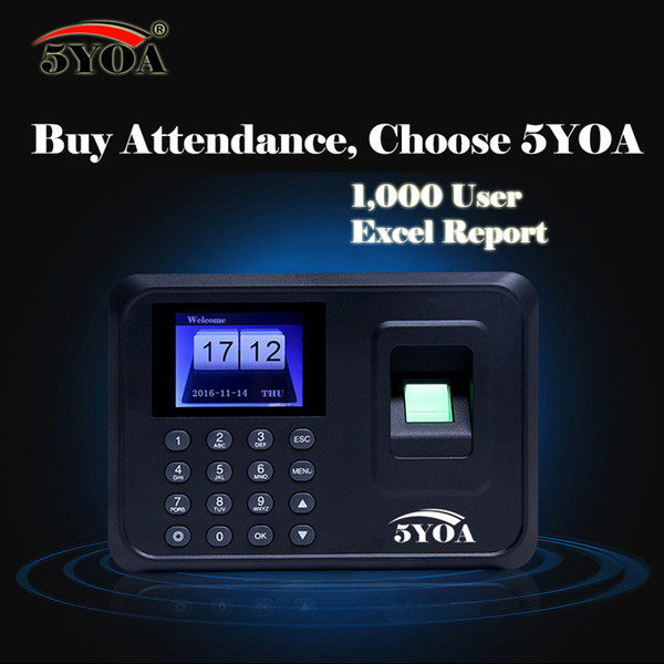 Biometric Fingerprint Time Clock Recorder Attendance Employee Digital Machine Electronic Standalone Punch Reader