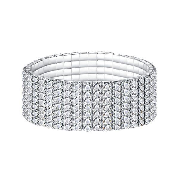Fatory sale high Rhinestone Bracelet for Woman Girl Jewelry wedding Female Accessories 1-12 rows alloy chain