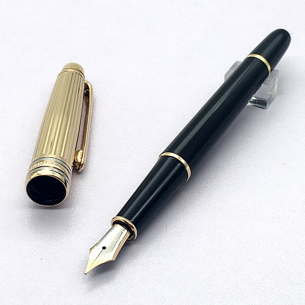 top popular Best pen Luxury Monte M.S.T Black with Gold fountain pen high quality ink converter pen free delivery 2019
