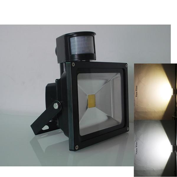 10w 20w 30w 50w Pir Motion Sensor Flood Light Security Ac Dc 12 V Led Outdoor Lighting Luminous Flux Sensor Lights Led Lamps Outdoor Flood Light