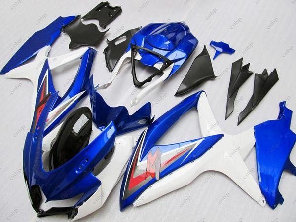 Carenados de plástico GSXR 600 08 10 Kits de cuerpo para Suzuki GSXR750 2009 Blue Fairing Kits GSX R600 2010 2008 - 2010 K8