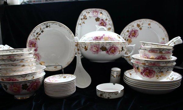 Dinner set / Luxury/ Tableware/ceramic/porcelain/Blossom/50pieces bone China & Dinner Set / Luxury/ Tableware/Ceramic/Porcelain/Blossom/Bone China ...