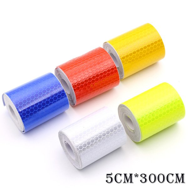 New 3M Fluorescence Pure Yellow Reflective Car Truck Motorcycle Sticker Safety Warning Signs Conspicuity Tape Roll 2017 Hot Sale