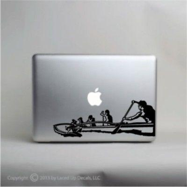 Outrigger Canoe Laptop Vinyl Decal,macbook pro skin,Hawaiian,bangka,Polynesian /Car sticker wall phone Laptop Decal decals sticker