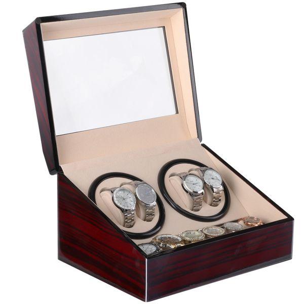 best selling GWatch Winder, Wooden Velvet Automatic Horloge Watch Winder Box Watches Watch Winders Shipping Uhrenbeweger Remontoir Montre Automatique