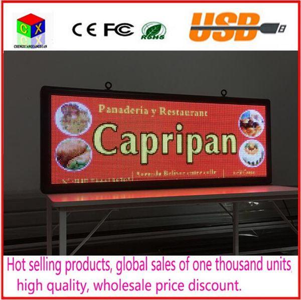 Signe de texte de défilement de LED 15''X40 '' / supporte l'écran de publicité à LED polychrome de RGB / image programmable d'intérieur affichage à LED