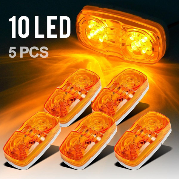best selling Trailer Marker LED Light Double Bullseye 10 Diodes Clearance Light Red 5PCS