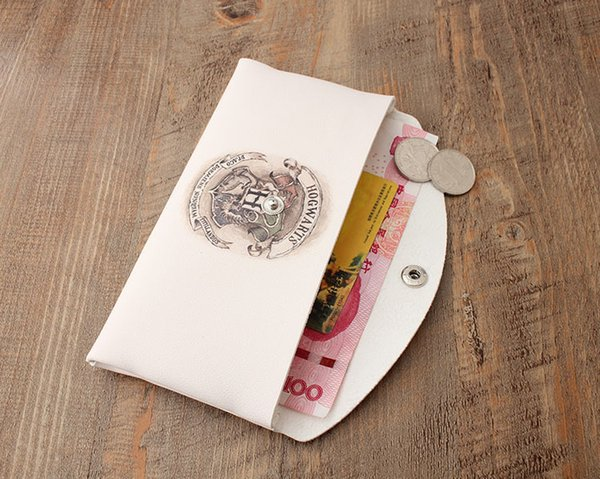 100pcs 2017 New Harry Potter Magic School Wallet Unisex long style printed Fashion Coin Purse Mobile Phone bag