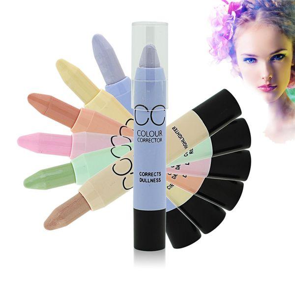 Makeup Face Contouring Cosmetic CC Color Corrector Hide Blemish Dark Circle Face Eye Foundation Concealer Beauty Pen Stick