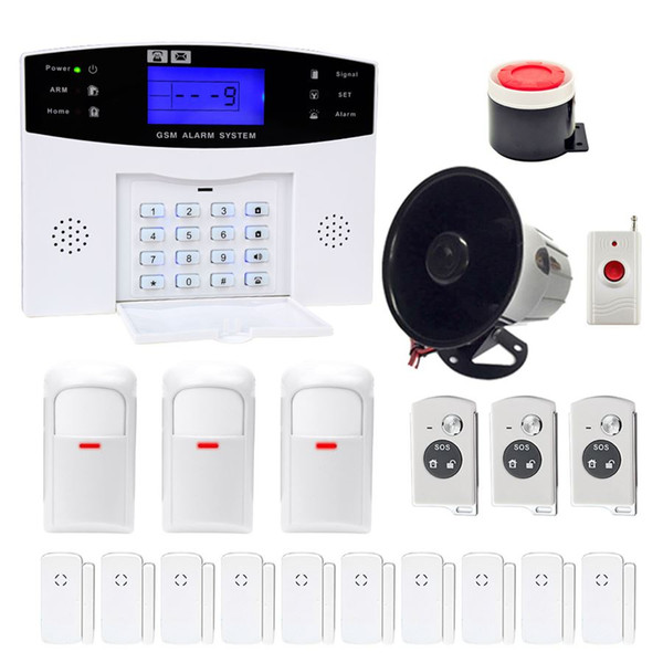 Minritech Home Security GSM Alarmanlage Wireless / Wired SMS Einbrecher Voice Alarmanlage Fernbedienung Set Arm / Unscharf KIT HOT