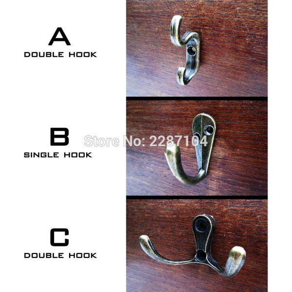 Dekor Antik Messing Vintage Mini Kleine Schmuck Brust Box Tür Wand Möbel Kleiderschrank Tasse Kleidung Hut Schlüssel Doppelhaken Kleiderbügel