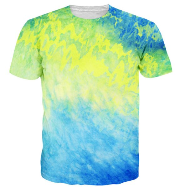 Newest Fashion Mens/Womens Colorful Tie Dye T-Shirt Summer Style Funny Unisex 3D Print Casual T-Shirt S---5XL AA424