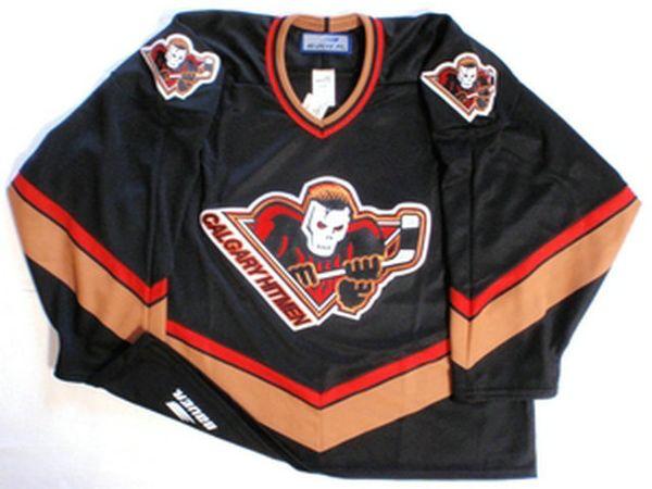 Personnaliser Hockey Jersey Hitmen de Calgary sur mesure personnalité WHL Jersey Personnalisation Votre nom et NO