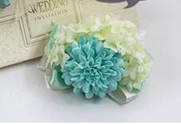 Tiffany Blue wrist flowers