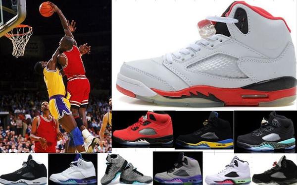 Sıcak Satış Yüksek Kalite 5 s 5 Erkekler Basketbol Ayakkabı Sneakers Ucuz Oreo Erkekler Kadınlar Eğitmenler Atletizm Ayakkabı Spor Ayakkabı 4-5-6-7-8-9-11-12-13