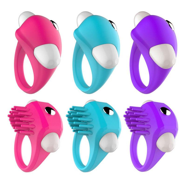 Silicone Cock Penis Ring Sleeve Sex Toys Men Ball Stretcher Vibrating Ring Sex Product Erotic Toys