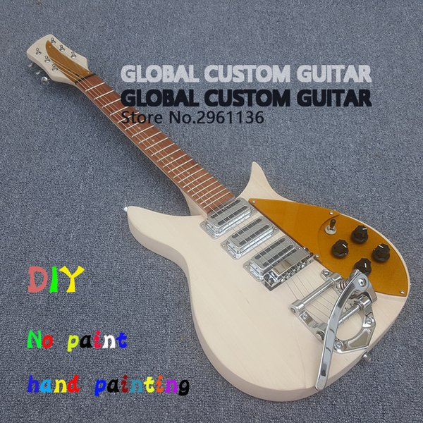 DIY No paint High quality Three pickup 325 electric guitar original wood color Give the signature Real photos free shipping Hot Sale!!!