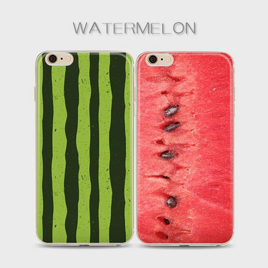 For iPhone 6s 6 Plus 5s 5c 5 4s 4 Case Clear Soft TPU Cover Watermelon Fruit Vegetable Pattern Case Bohemia Phones Shell