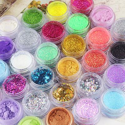 top popular 36 Colors Glitter Eyeshadow Eye Shadow Makeup Shiny Loose Glitter Powder Eyeshadow Cosmetic Make Up Pigment 2020