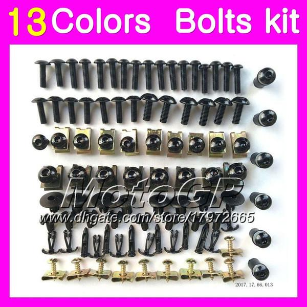 Kit de tornillos completos de carenado para KAWASAKI ZX14R 12 13 14 15 ZZR1400 ZX 14R ZX-14R 2012 2013 2014 2015 tornillos de tuerca de tuercas kit de tornillos 13 colores