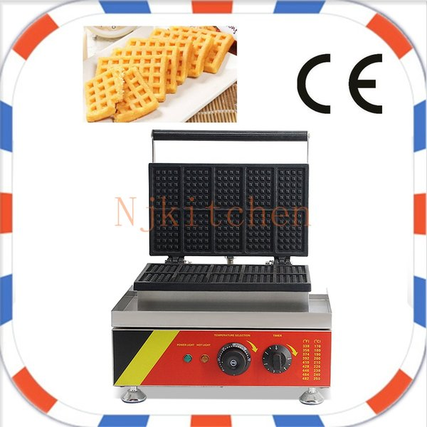 Free Shipping Factory supply 110v 220v 10 pcs Industrial Electric Belgian Mini Waffle Maker Toaster Machine