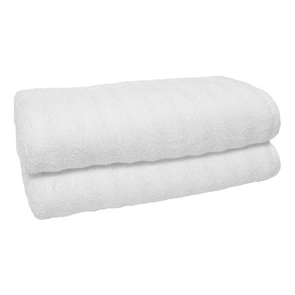 100% Cotton Hotel Guest House Bath Towels White Color Towel Soft Bathroom Supplies Unisex Usage Natural Safe Towels 70*140Cm 400G