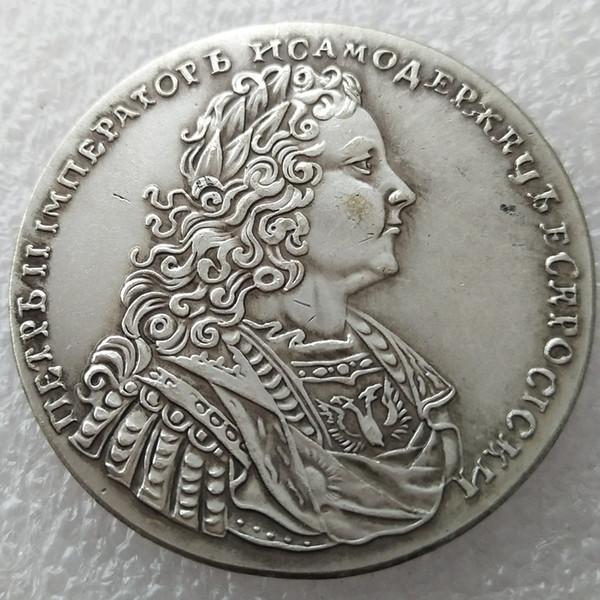 RUSSIA 1 Rouble Ruble 1727 Silver Peter II copy coins manufacturing copy coin Factory Price nice home Accessories Silver Coins
