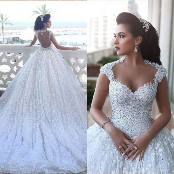 Discount Luxury 2017 Arabic Dubai Wedding Dresses Glamorous Diamonds ...