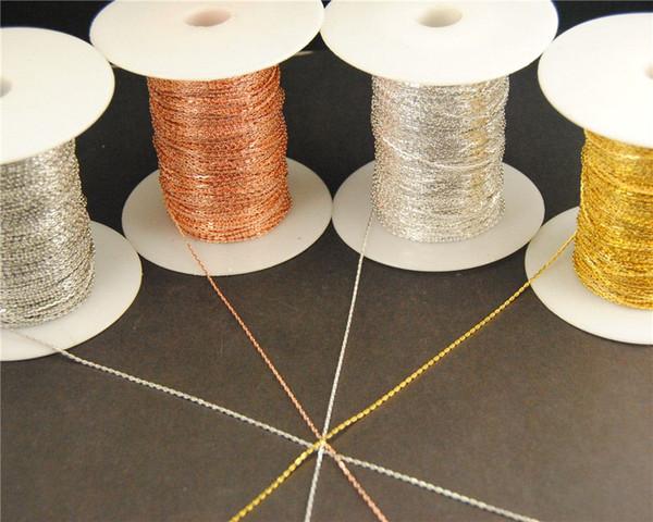 Yeni fabrika fiyatı 10 Metre 1mm 4 Renk Finsh Metal Pirinç Halat Kolye Dökme Takı Bulguları