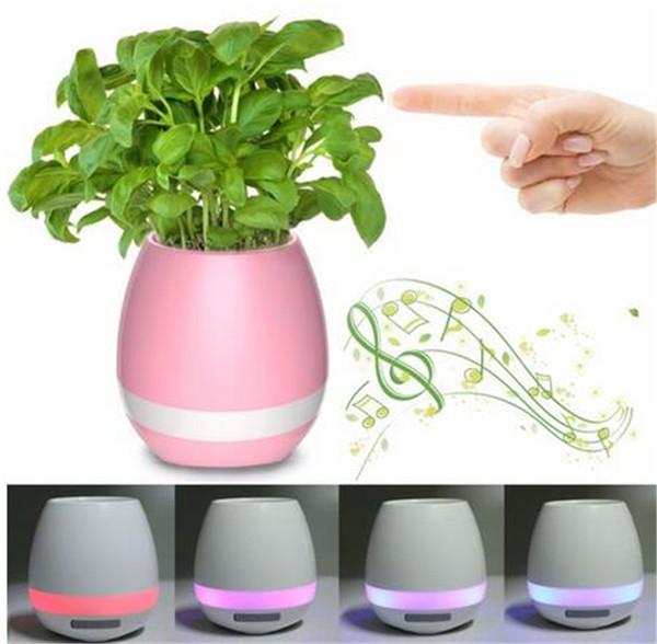 TOKQI Bluetoth Smart Touch Music Pots de fleurs Plante Musique pour piano Jouer au pot de fleurs sans fil K3 (sans plantes)