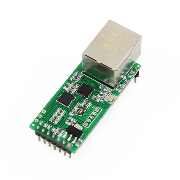 Toptan Satış - Q002 1PC USR-TCP232-T2 RS232 Seri Ethernet Modülü Tcp Ip UDP Ağ Dönüştürücü Modülü TTL Lan Modülü ile RJ45 Portu
